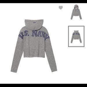 U.S Navy cropped hoodie
